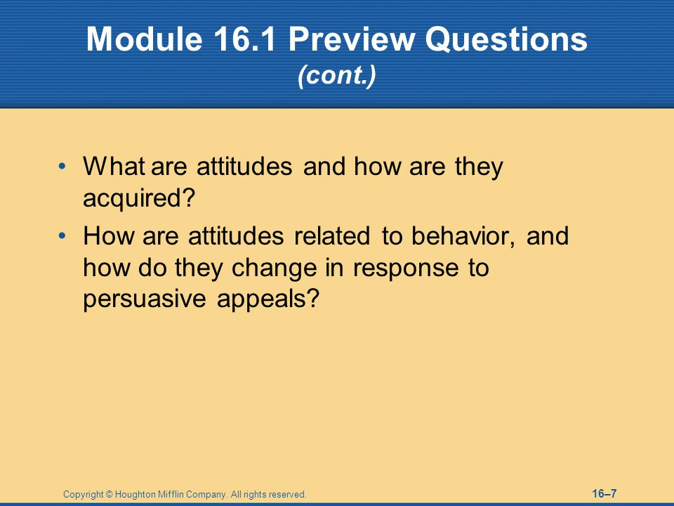 Module 16.1 Preview Questions (cont.)