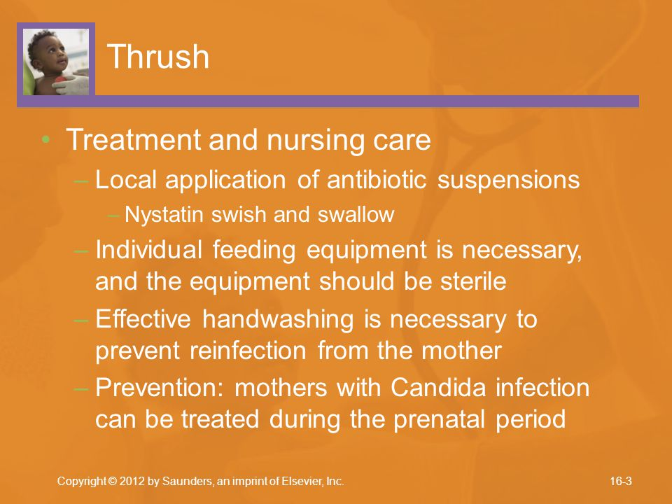 Thrush Treatment and nursing care