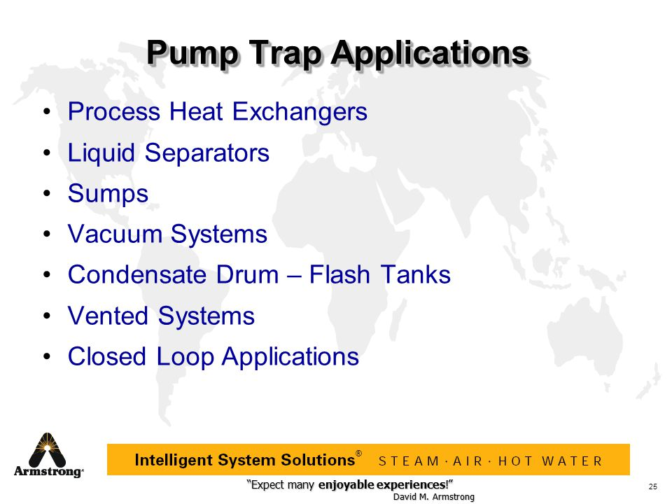 Pump Trap Applications