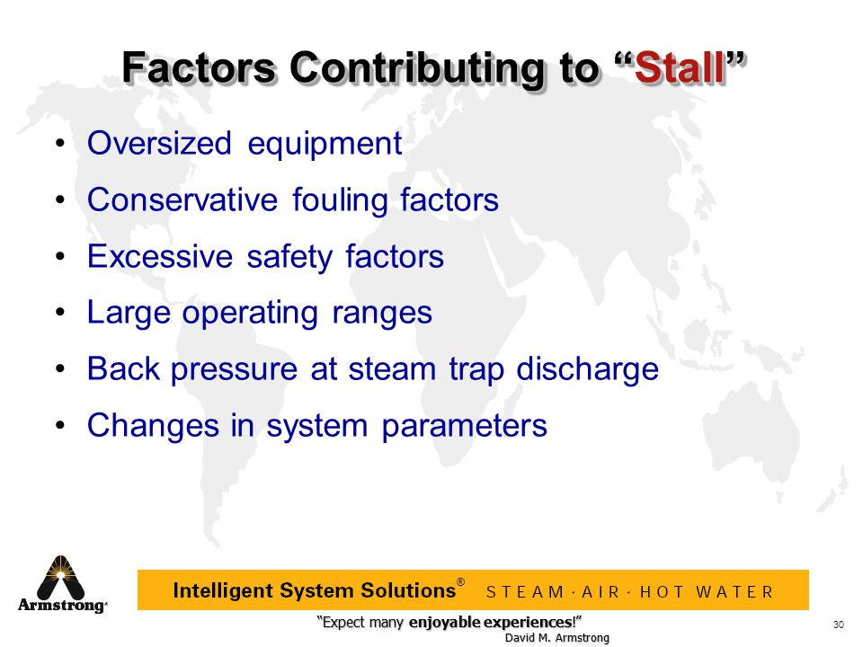 Factors Contributing to Stall
