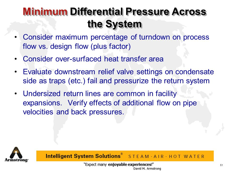 Minimum Differential Pressure Across the System