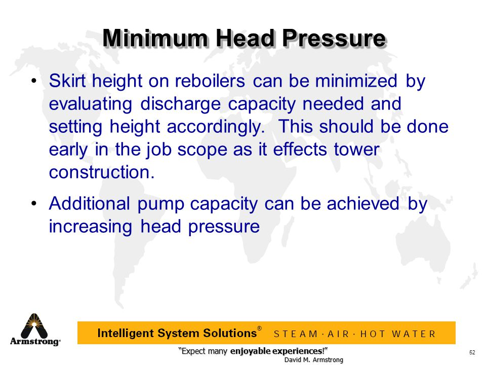 Minimum Head Pressure