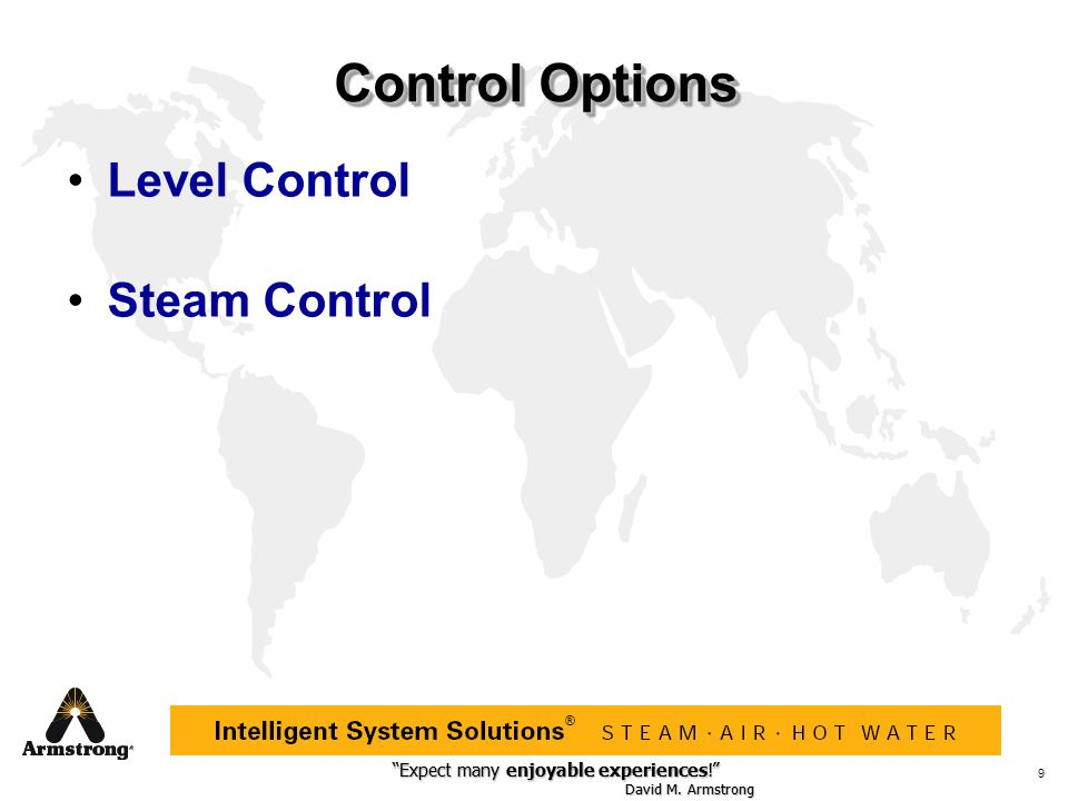Control Options Level Control Steam Control