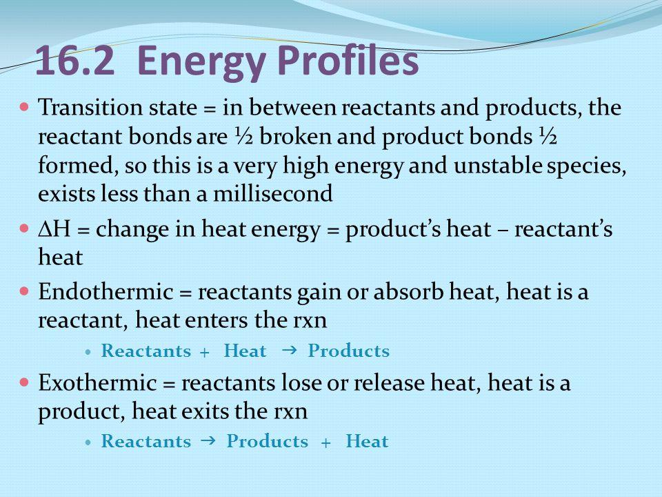 16.2 Energy Profiles