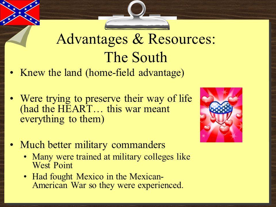 Advantages & Resources: The South