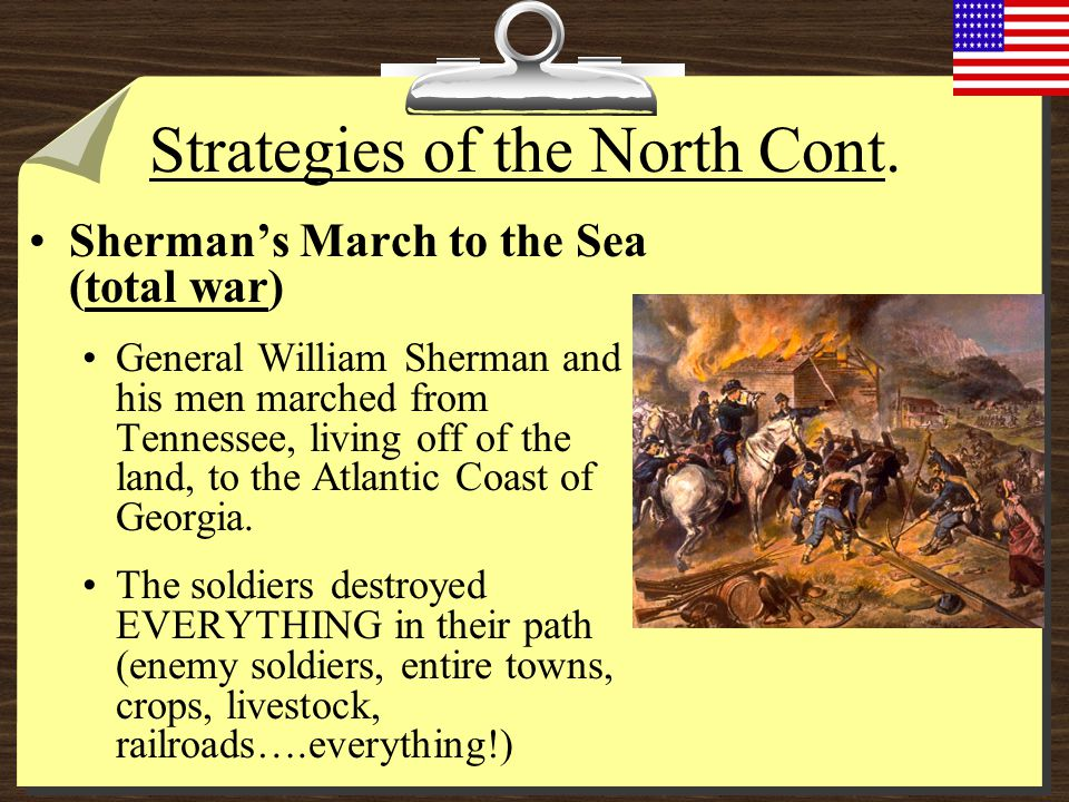 Strategies of the North Cont.