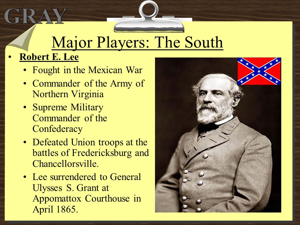 Major Players: The South
