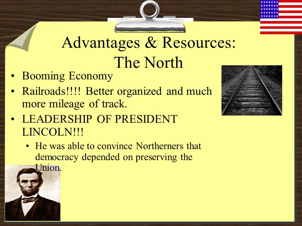 Advantages & Resources: The North