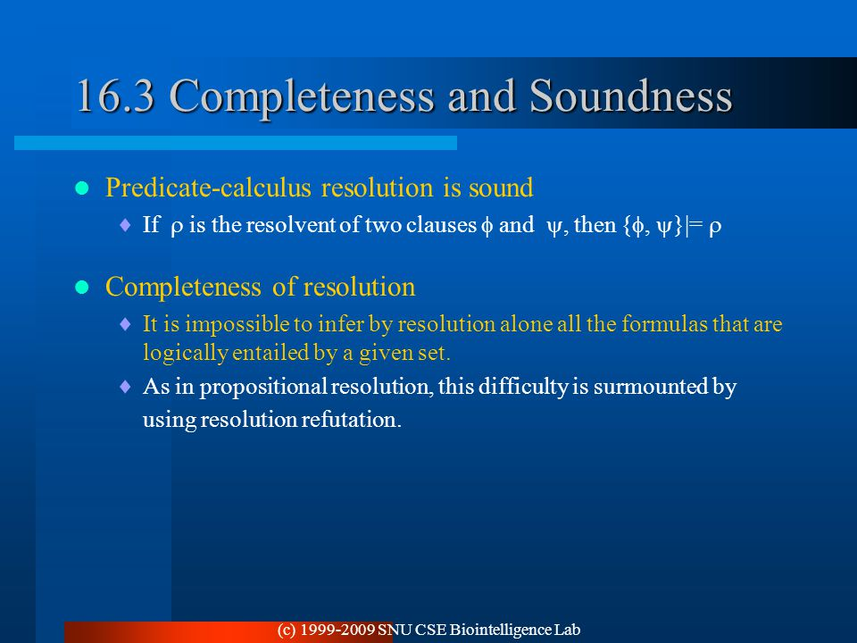 16.3 Completeness and Soundness