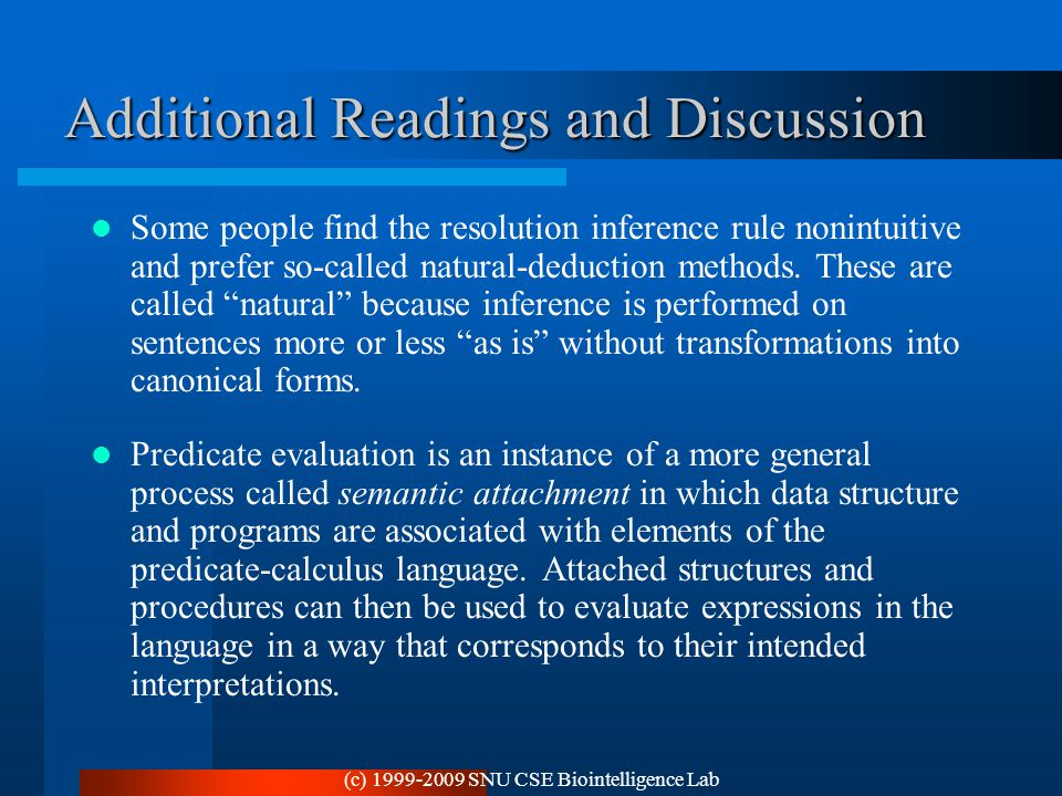 Additional Readings and Discussion