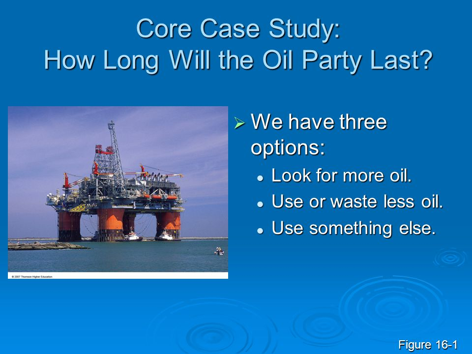 Core Case Study: How Long Will the Oil Party Last