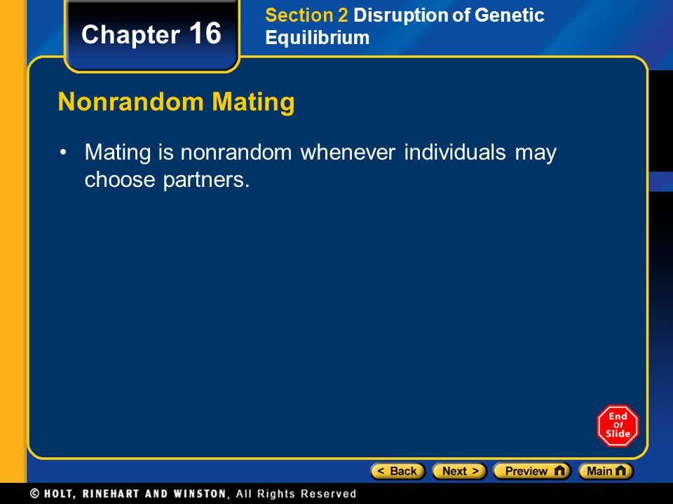 Chapter 16 Nonrandom Mating