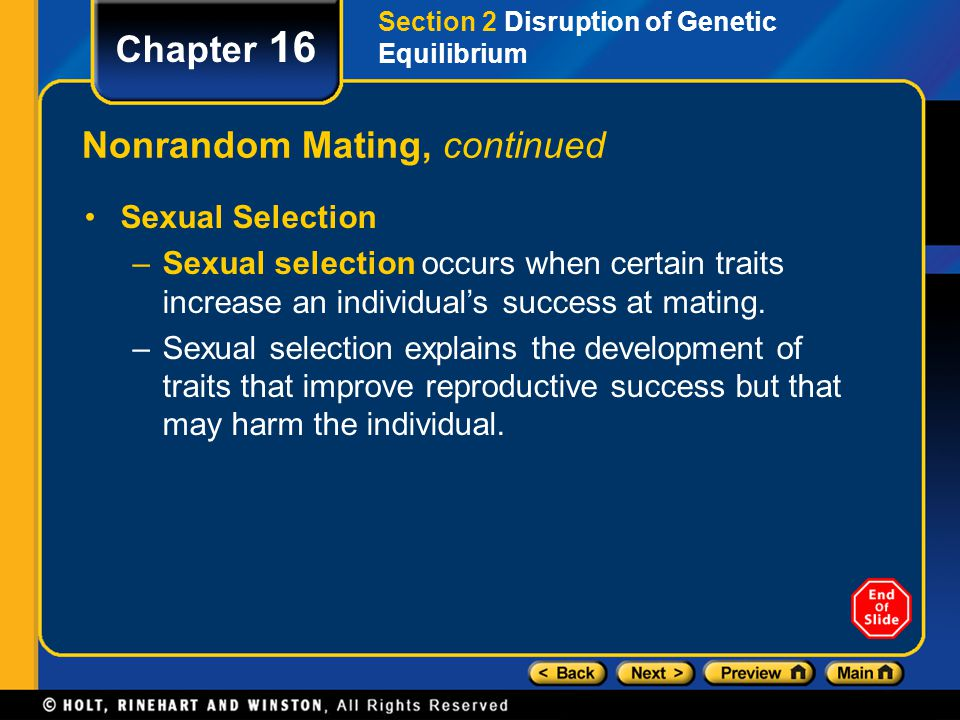 Nonrandom Mating, continued