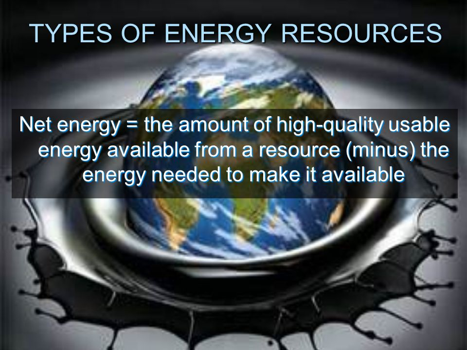 TYPES OF ENERGY RESOURCES