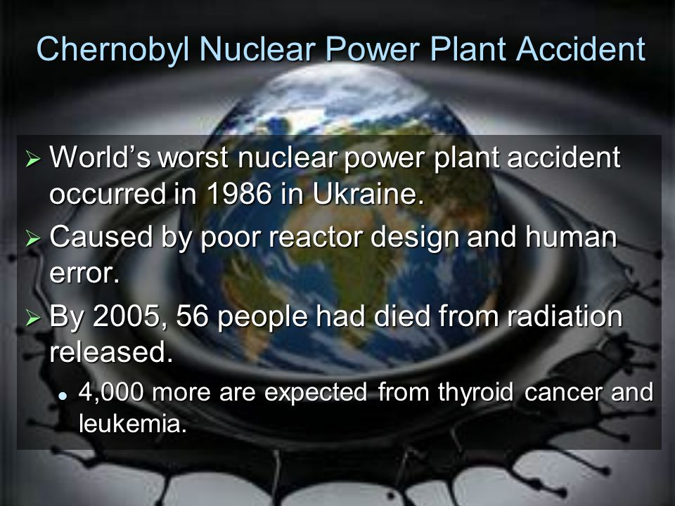 Chernobyl Nuclear Power Plant Accident