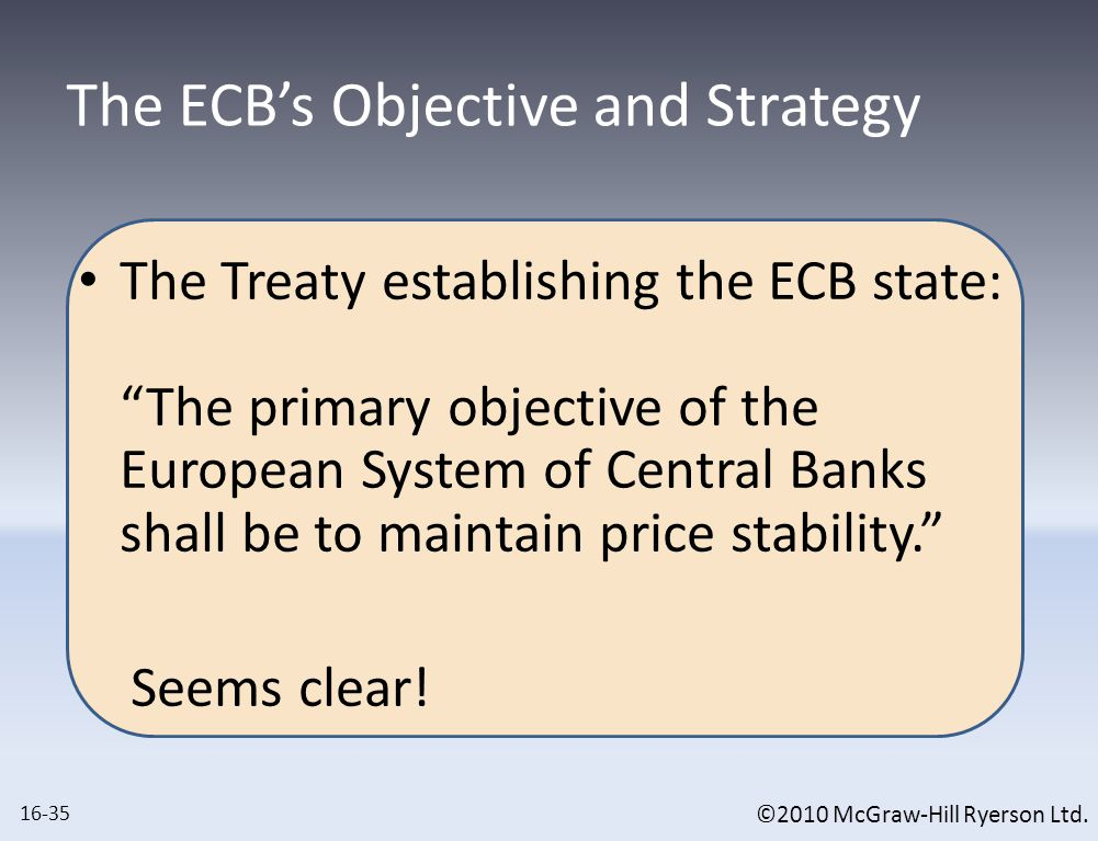 Comparing ECB to B.O.C. and The Federal Reserve