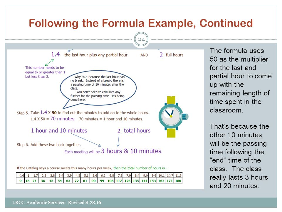 Following the Formula Example, Continued
