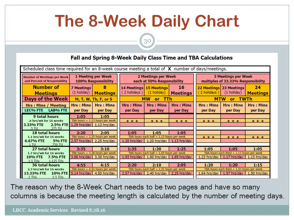 The 8-Week Daily Chart