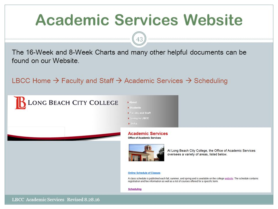 Academic Services Website