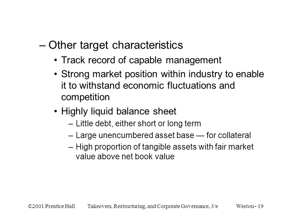 Other target characteristics