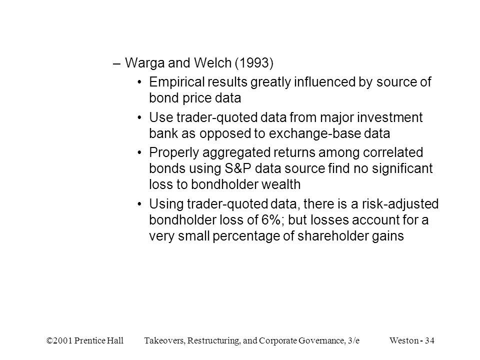 Empirical results greatly influenced by source of bond price data