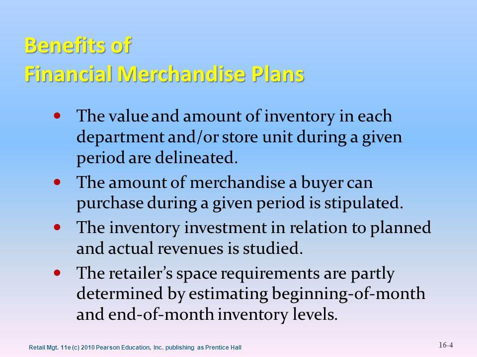 Benefits of Financial Merchandise Plans