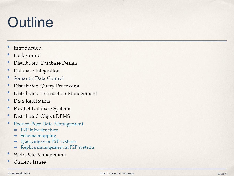 Outline Introduction Background Distributed Database Design