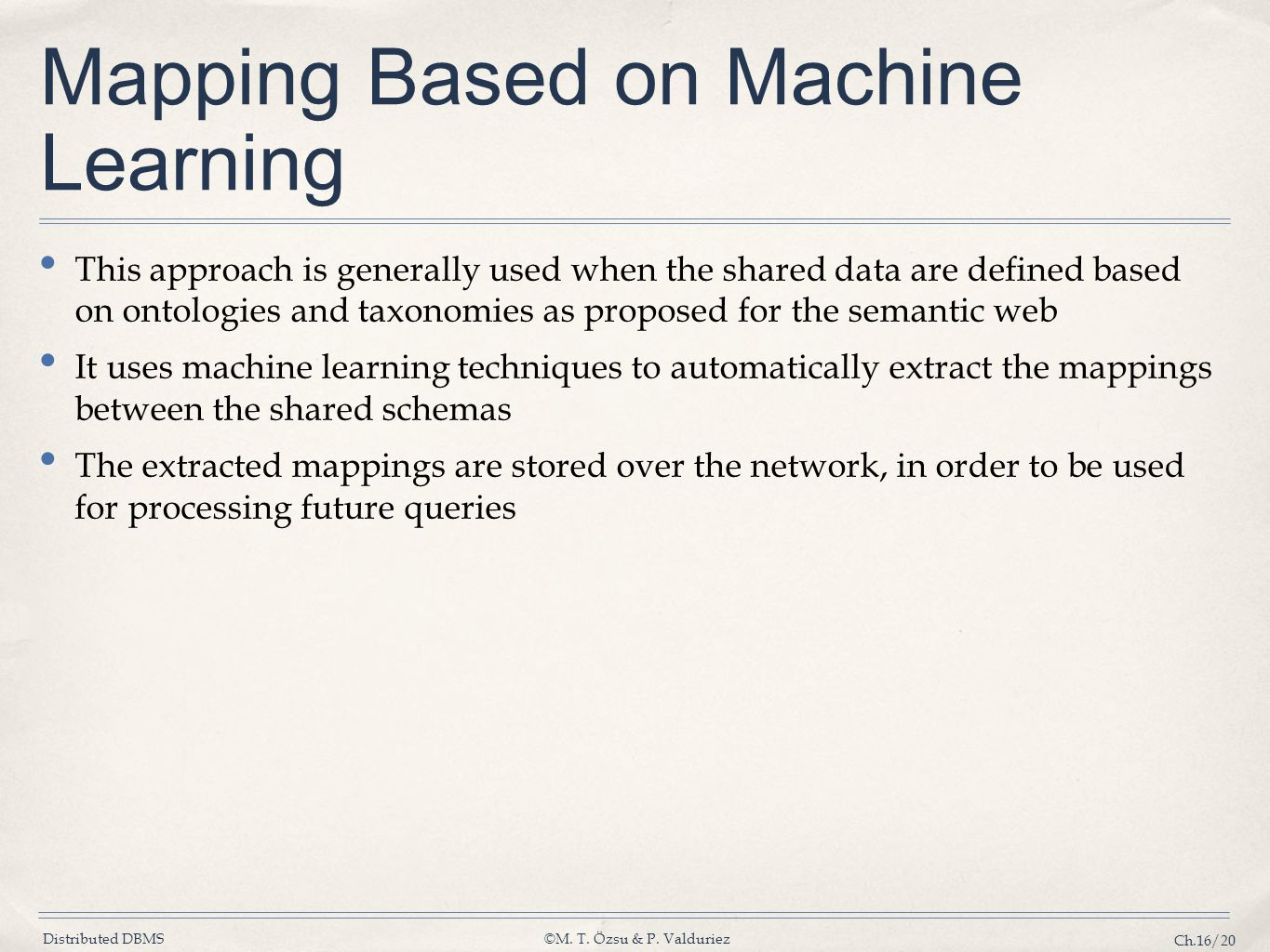 Mapping Based on Machine Learning