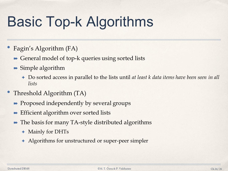 Basic Top-k Algorithms