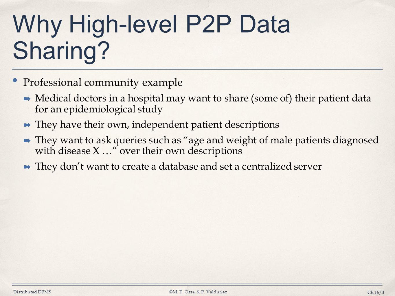 Why High-level P2P Data Sharing