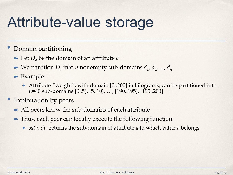 Attribute-value storage