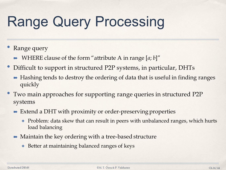 Range Query Processing