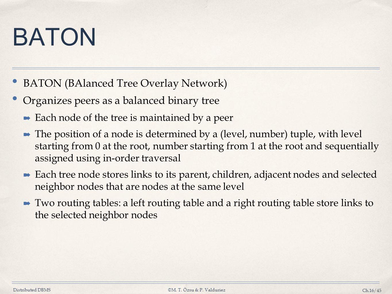 BATON BATON (BAlanced Tree Overlay Network)