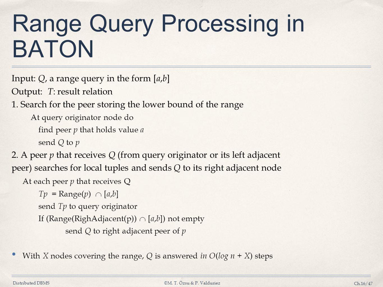 Range Query Processing in BATON