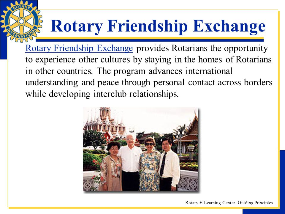 Rotary Friendship Exchange