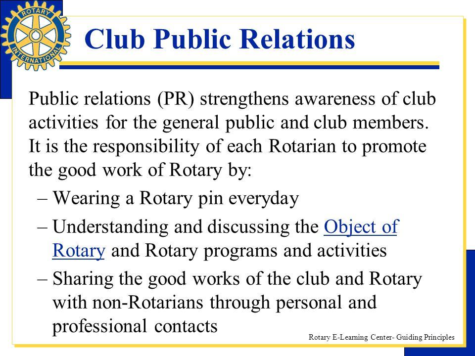 Club Public Relations