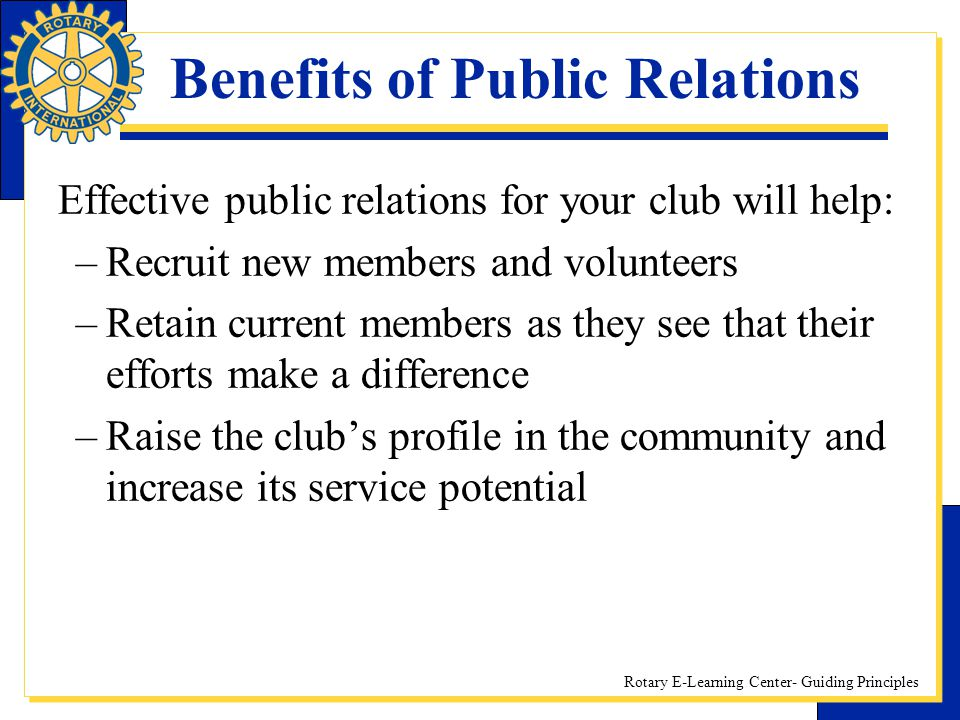 Benefits of Public Relations