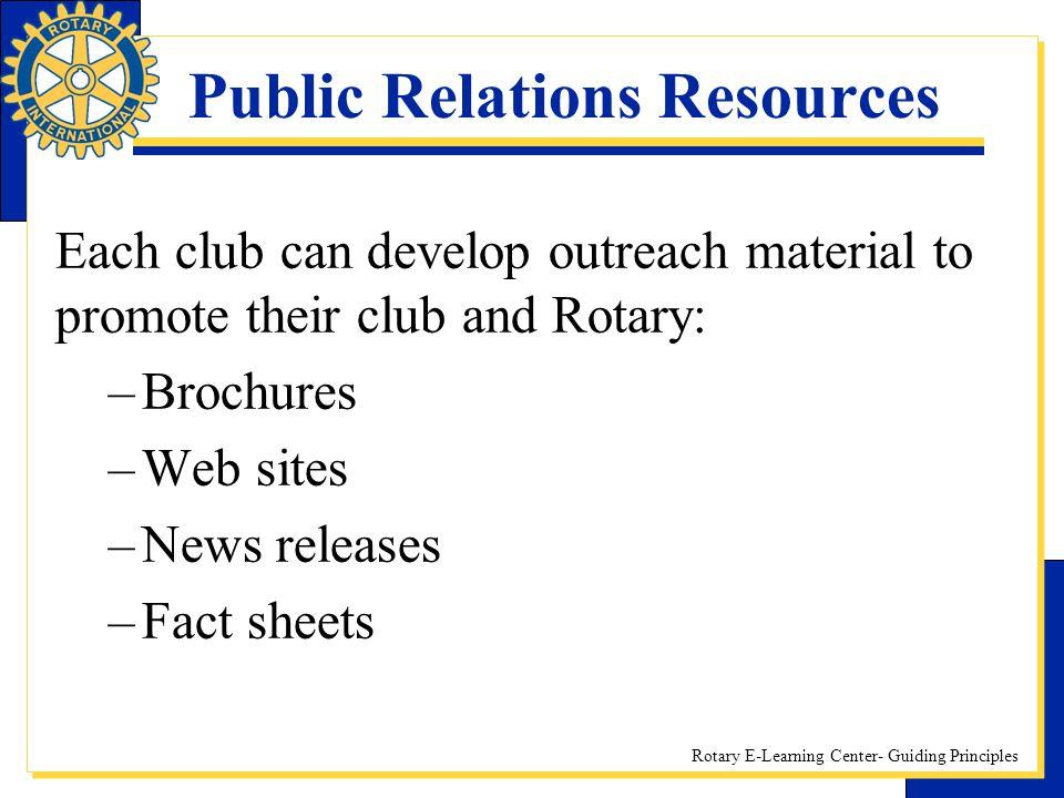 Public Relations Resources