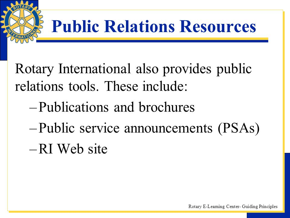 Public Relations Resources