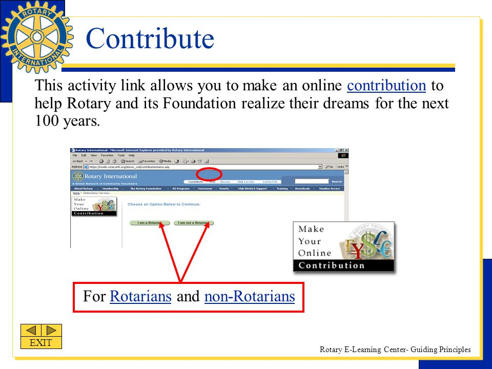 For Rotarians and non-Rotarians