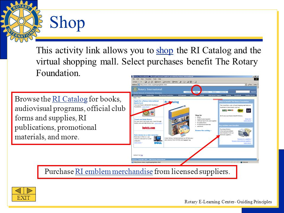 Purchase RI emblem merchandise from licensed suppliers.
