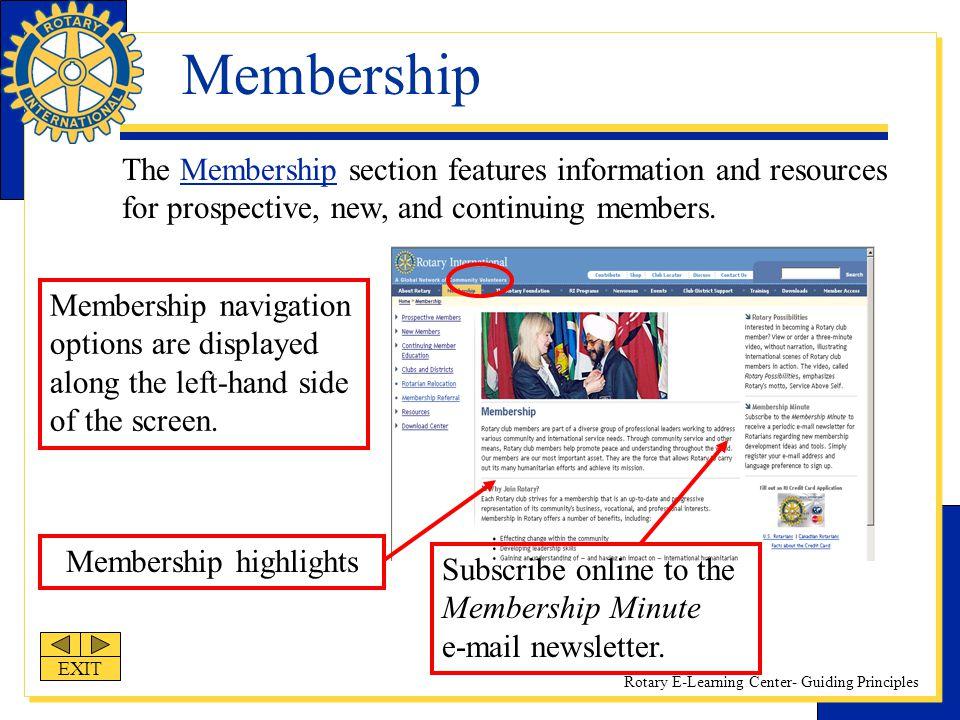 Membership highlights
