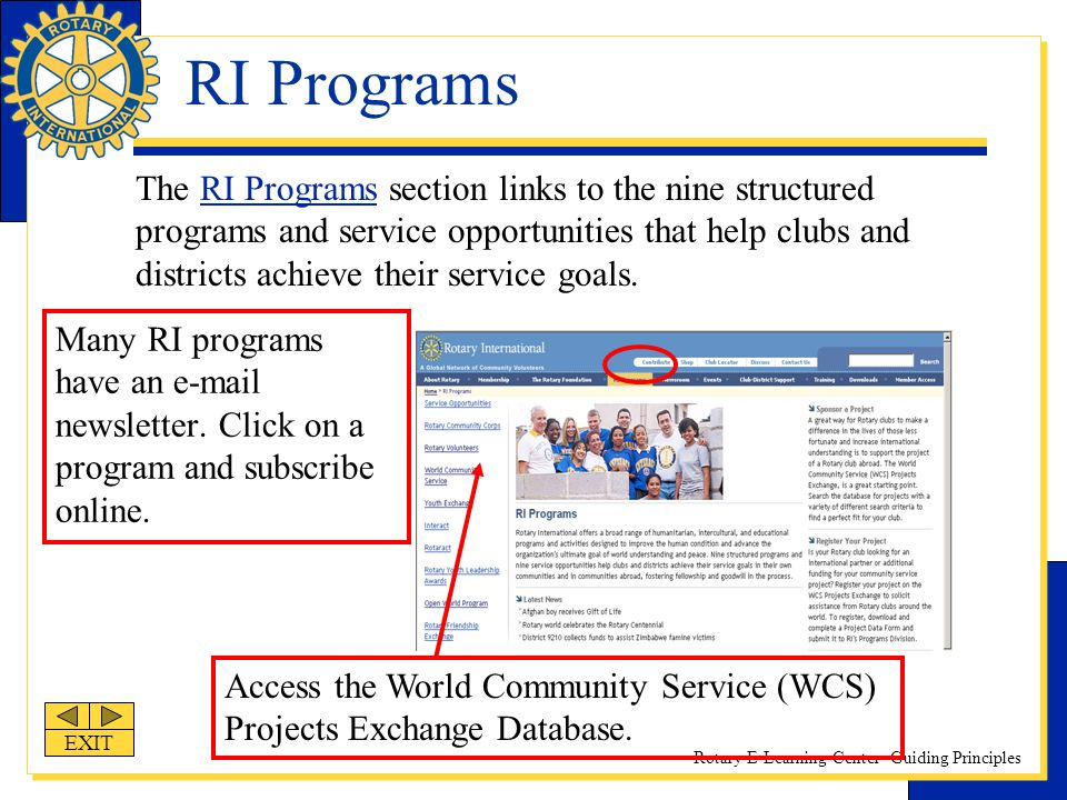 RI Programs