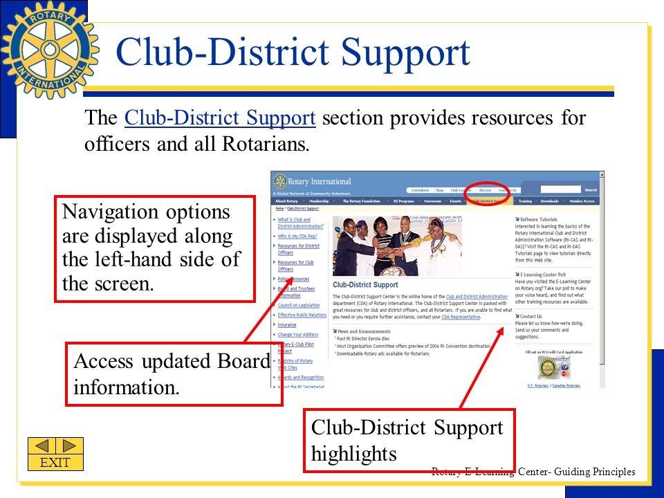 Club-District Support