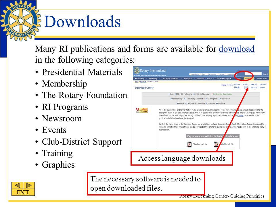 Access language downloads