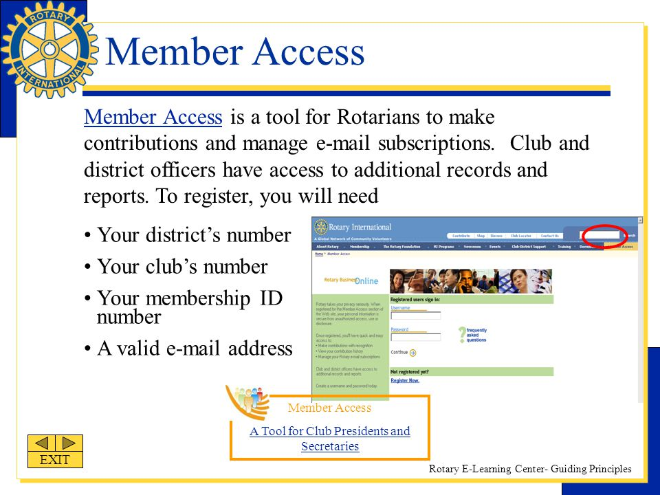 A Tool for Club Presidents and Secretaries