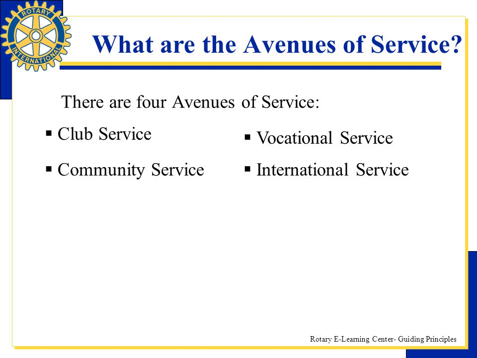 What are the Avenues of Service