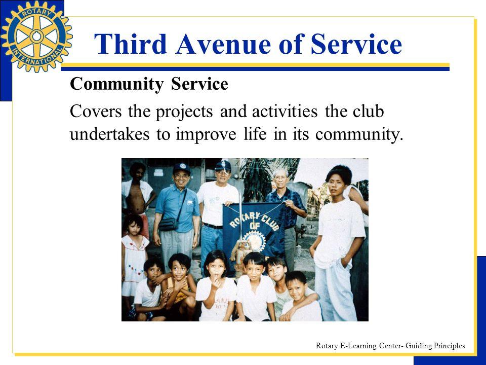 Third Avenue of Service