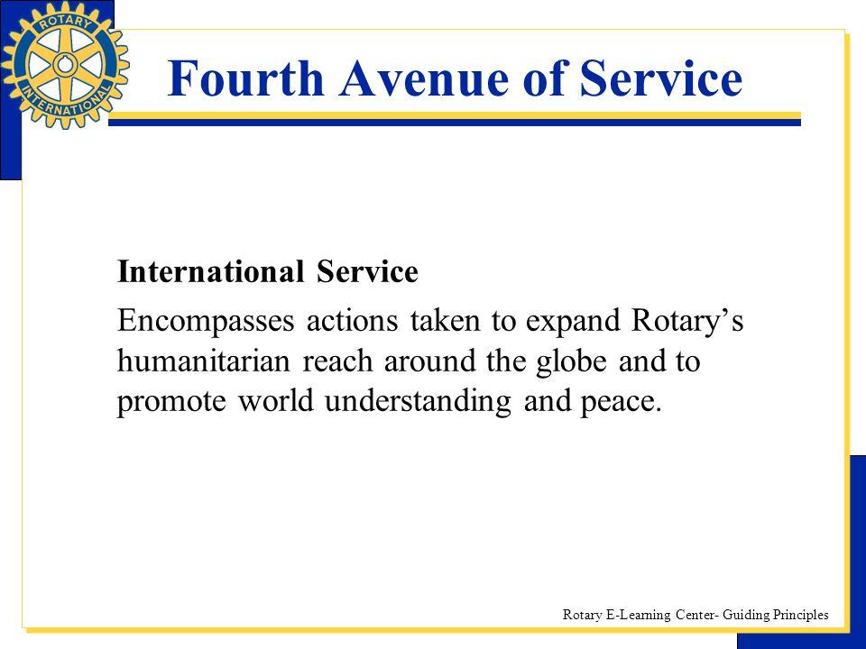 Fourth Avenue of Service