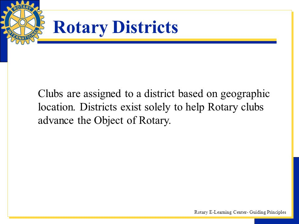 Rotary Districts